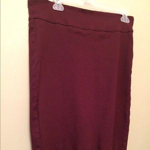 Maroon Margaret M pencil skirt
